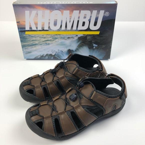 670d5c0a5d0 KHOMBU Men s Active Sandals Water Shoes Brown NEW